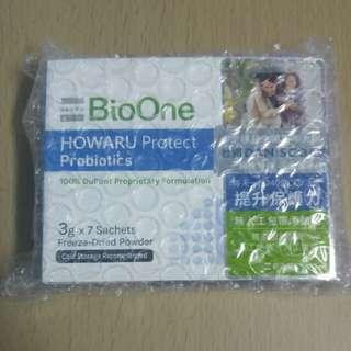 全新BioOne Howaru 保護機能益生菌7包,原價128,有效至2018年4月12