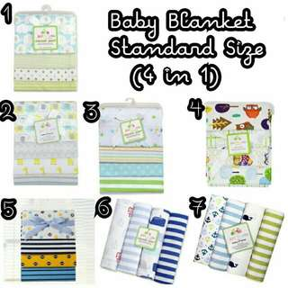 100% COTTON BABY BLANKET 4 IN 1