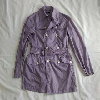 Purple Windbreaker Autumn Trench Coat