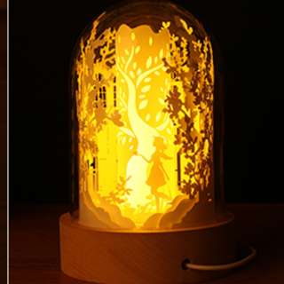 DIY Lighted Paper Art Glass Dome - Sweet Dreams