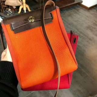 SOLD 已售Vintage Hermes 中古橙紅色手袋