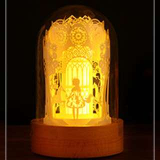DIY Lighted Paper Art Glass Dome - Merry Go Round