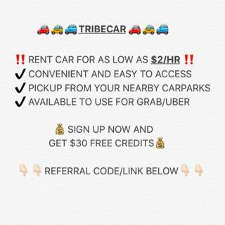 Tribecar Referral Code free $30 credit