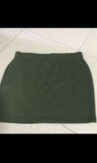 #Huat50sale Olive green factorie skirt