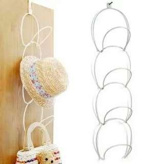 🚚 創意時尚壁掛圓環多用衣帽架/牆壁門後收納掛衣架
