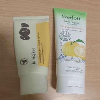 Eversoft Cleansing Foam 170g / Innisfree Jeju Volcanic Pore Cleansing Foam