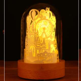 DIY Lighted Paper Art Glass Dome - Castle Of Love