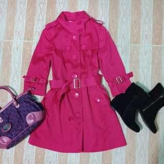 800🔖 Fuschia Coat