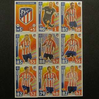 最新 17/18 歐聯 Match Attax Champions League 18 cards TEAM set #Atletico De Madrid 馬體會