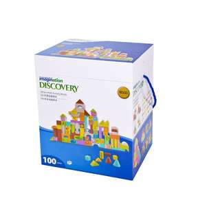 100pcs Multi Activity Wooden Blocks