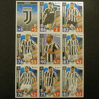 最新 17/18 歐聯 Match Attax Champions League 18 cards TEAM set #Juventus 祖雲達斯