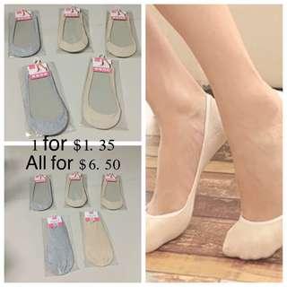 Set Of 5 Invisible Ladies Socks 🧦