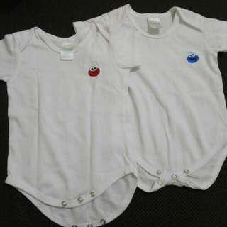Sesame street plain white onesie for 3-6 months