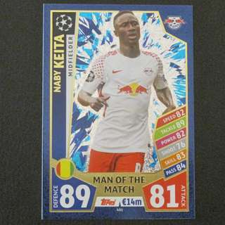 最新 17/18 歐聯 Match Attax Champions League MOTM - Naby KIETA #RB Leipzig 萊比錫