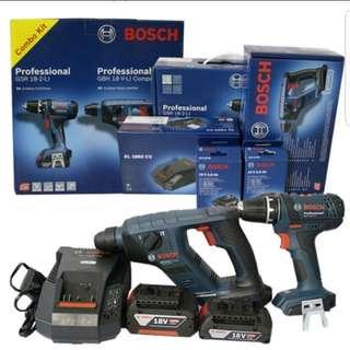 Cordless Drill bosch new set