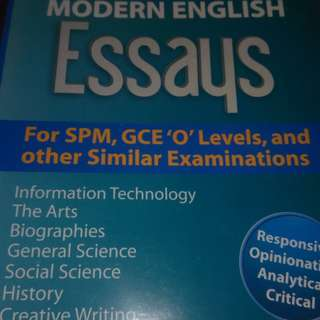 180 Definitive Modern English Essays. Good for Standardized tests such as IELTS