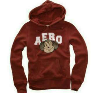 Aeropostale Red Hooded Monkey Pullover