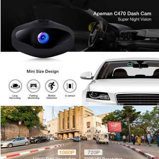 APEMAN C470 DASH CAMERA MINI CAR DASH CAM 1080P FULL HD VIDEO RECORDER WITH SONY SENSOR