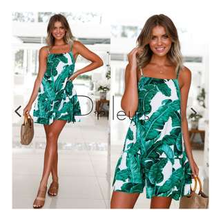 Palm Pirnted Dress