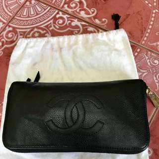 CNY SALE!Authentic Chanel Caviar Long Wallet