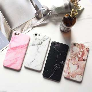 PO(302) White Black Pink Brown Marble Streaks iPhone Phone Case