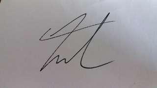 Exo 樸燦烈 CHANYEOL 親筆簽名 白纸