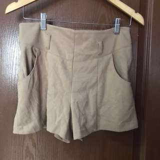 Nude High Waist Shorts