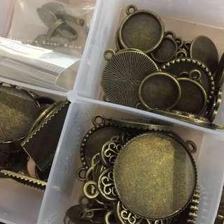 Bronze Jewellery findings lucky bag