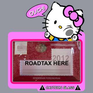 Road Tax Sticker - Hello Kitty Glass Face