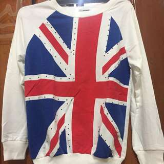 ENGLAND FLAG STUDDED SWEATER