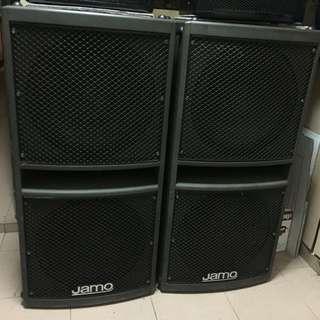 jamo Pa 6000 passive subwoofer&peavey speaker
