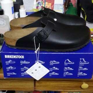 BIRKENSTOCK勃肯 牛皮半包鞋黑色 45號 含運 11 11.5