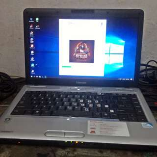 Laptop Notebook Bekas Second Seken Toshiba L510 Dual Core