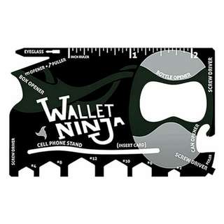 Wallet Ninja (18-in-1 Multi-tool)