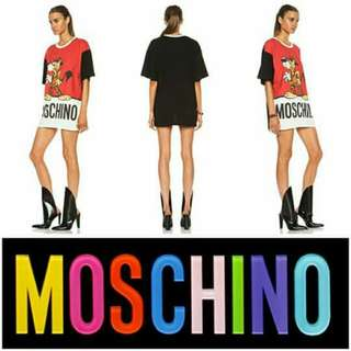 🎉SLASHED AT A VERY, VERY LOW Price Down🎉 -Yunik- Authentic MOSCHINO Fantasy Print Mr Funtastik Shirt Dress In Red
