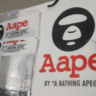 Preloved Aape Paperbag & Tags