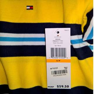 Tommy Hilfiger Collared Shirt (Taxi Yellow Striped)