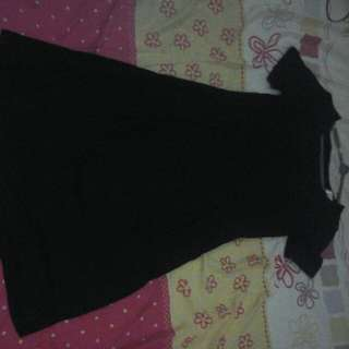 Black short sleeve bra dress