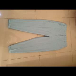 Celana bahan soft blue
