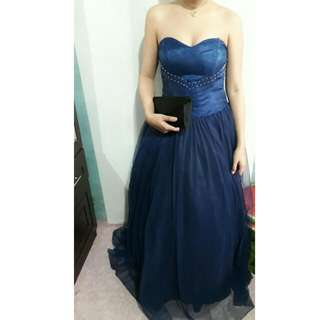 Navy Blue Ball Gown