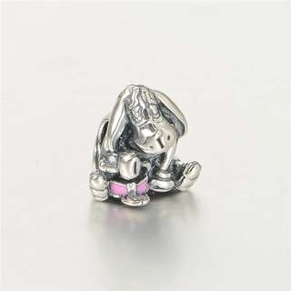 Code SS44 - Disney Eeyore From Winnie The Pooh 100% 925 Sterling Silver Charm, Compatible With Pandora