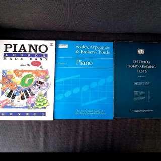 6 Piano Books Grade 1 4 7 8  ABRSM theory. Chords exam