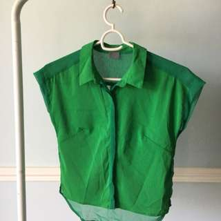 Kashieca Green buttoned top ☺︎
