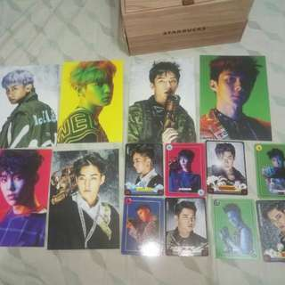 EXO Power SUM postcards, game cards
