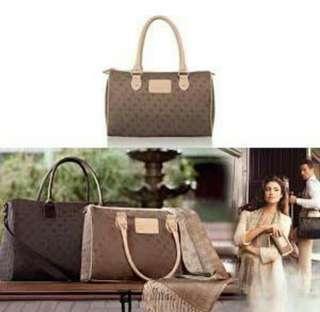 Hand bag wanita warna coklat elegan