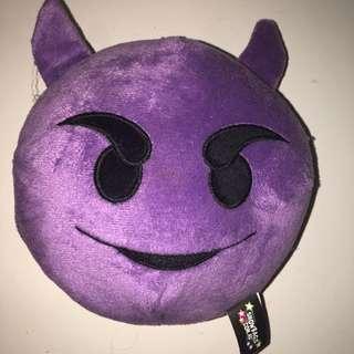 Mini Devil Emoji Pillow
