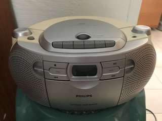 Philips Cassette/CD Radio 📻 player (Model AZ 1027)