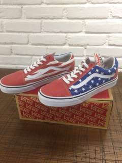 vans old skool  (van doren) star/stripes