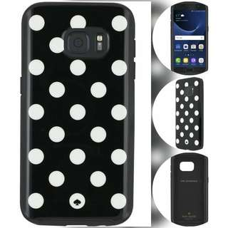 kate spade new york - Hybrid Hardshell Case for Samsung Galaxy S7 - Cream/Le Pavilion Dot Black  Kate Spade 原装 三星Galaxy S7 Case