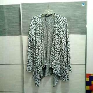 Bershka leopard knit cardigan outer